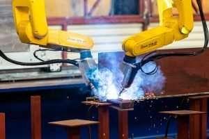 robot welding of panels